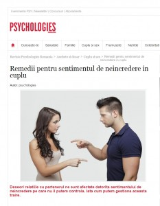 Neincredere in cuplu